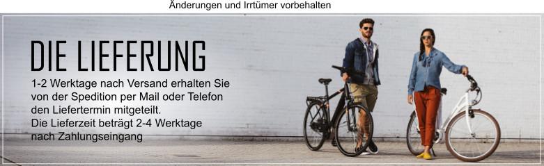 Fahrrad-Sale.de Lieferung Fahrrad und E-Bike